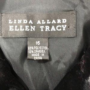 Ellen Tracy Jackets & Coats - Linda Allard Ellen Tracy Black Velvet Long Top